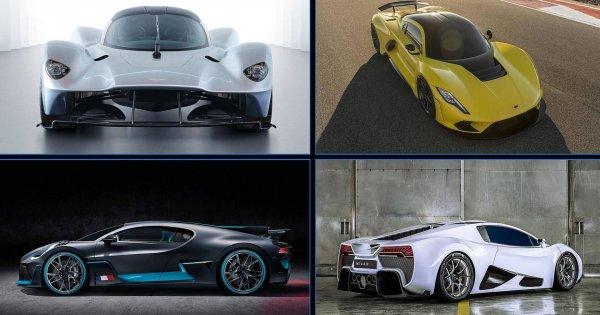 Die stärksten Autos der Welt: 12 Hypercars mit mehr als 1.000 PS