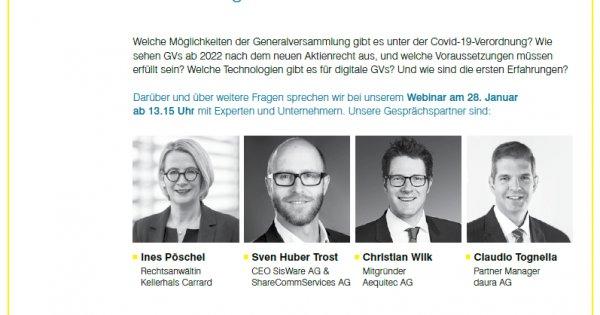 Jetzt anmelden! Webinar Digitale GV am 28. Januar 2021 - schweizeraktien.net