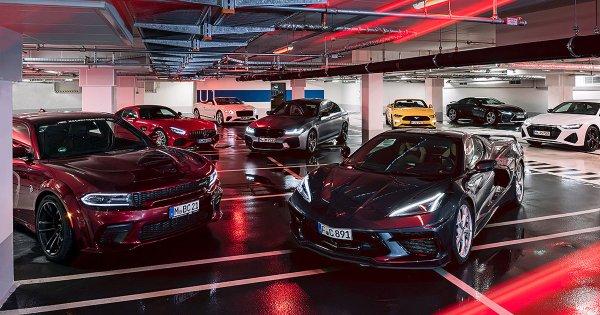 Acht mächtige V8-Sportler