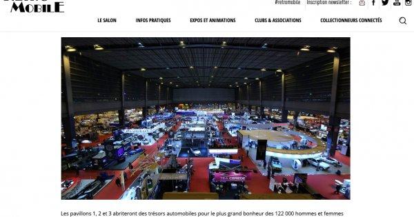 Salon Retromobile, le Salon International des Voitures de Collection, 3-7 février 2021.
