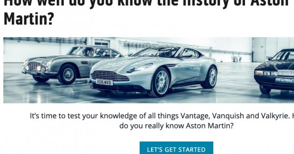 How well do you know the history of Aston Martin?