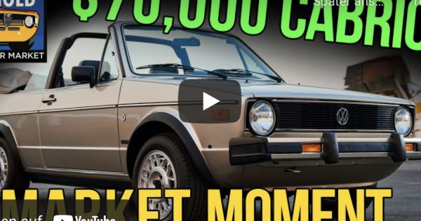 Lucky Rabbit! $70,000 1985 Volkswagen Cabriolet