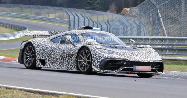 Mercedes-Benz AMG One spy shots and video: F1-powered hypercar takes to the 'Ring